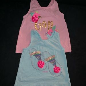 Gap tank tops size 2 T pink and blue